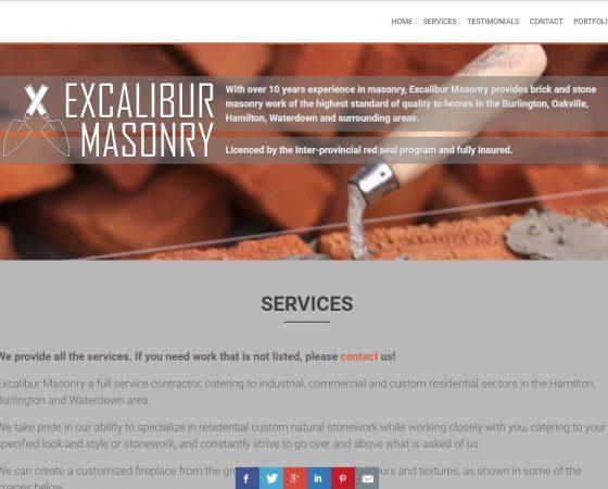 excalibur masonry